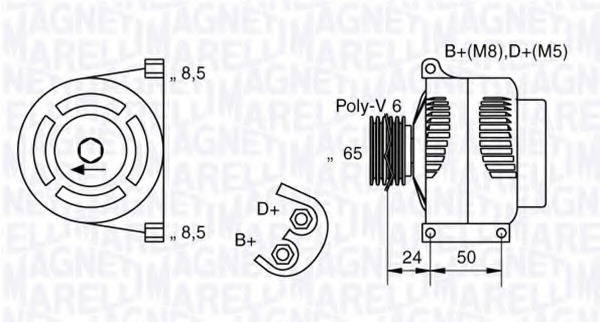 [BY_4519] Magneti Marelli Alternator Wiring Diagram Free