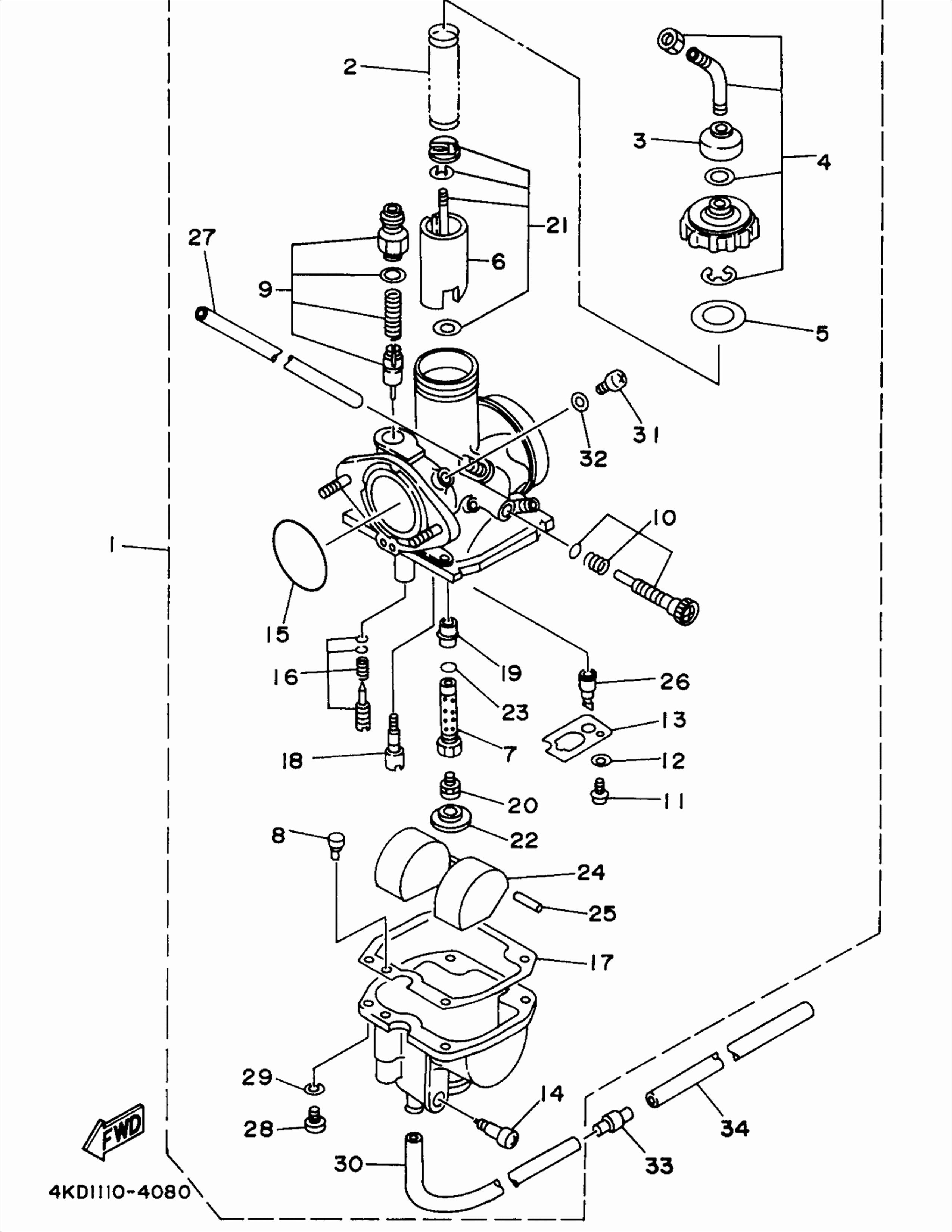 Yamaha Kodiak 400 Wiring Diagram / 1995 Yamaha Kodiak 400