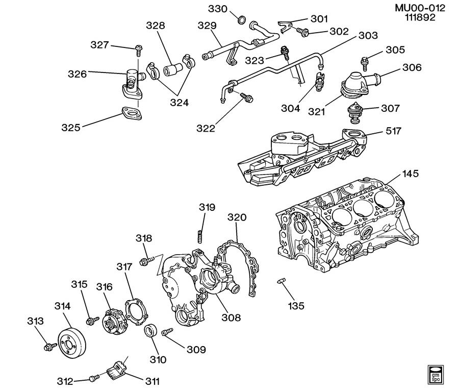 [DX_3469] Chevrolet Lumina Ls 3 1 V6 Gas Wiring Diagram