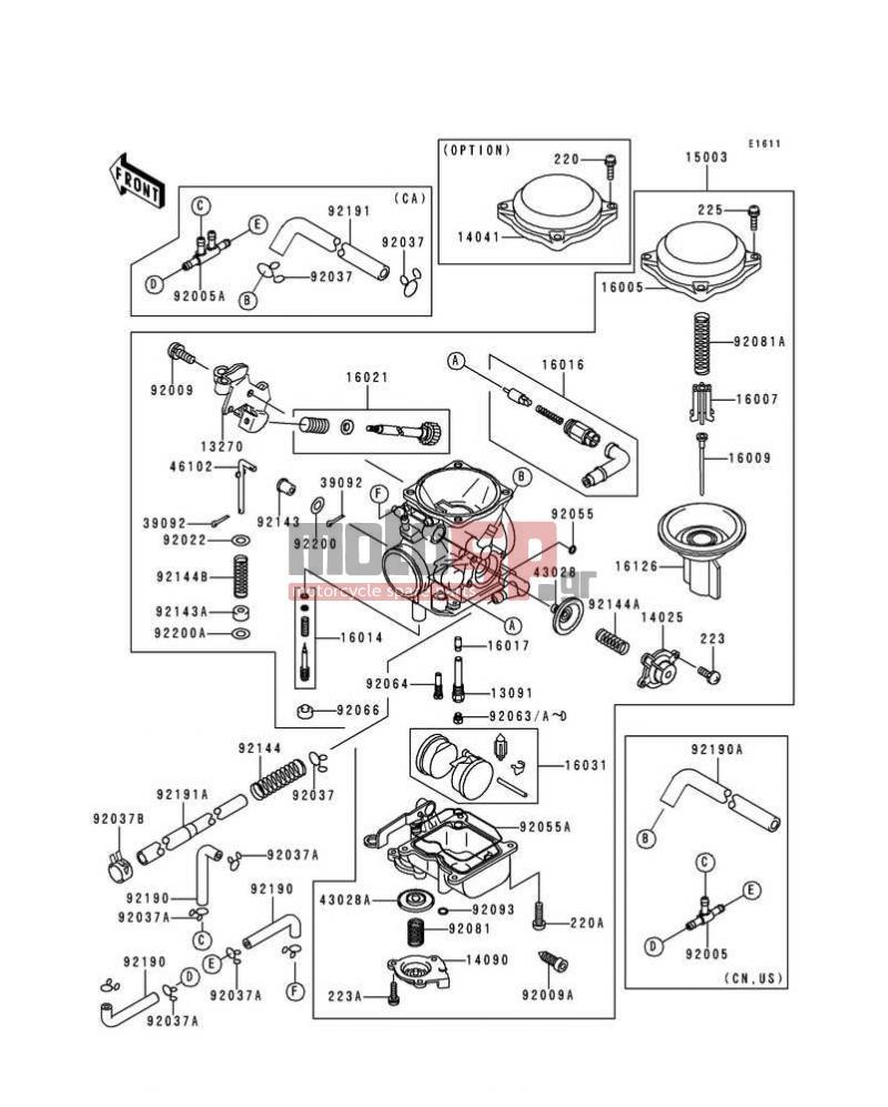 [SC_4793] Kawasaki Vulcan 800 Carburetor Diagram Schematic