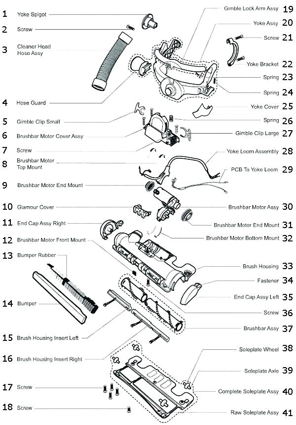 Shark Navigator Lift Away Vacuum Parts Diagram