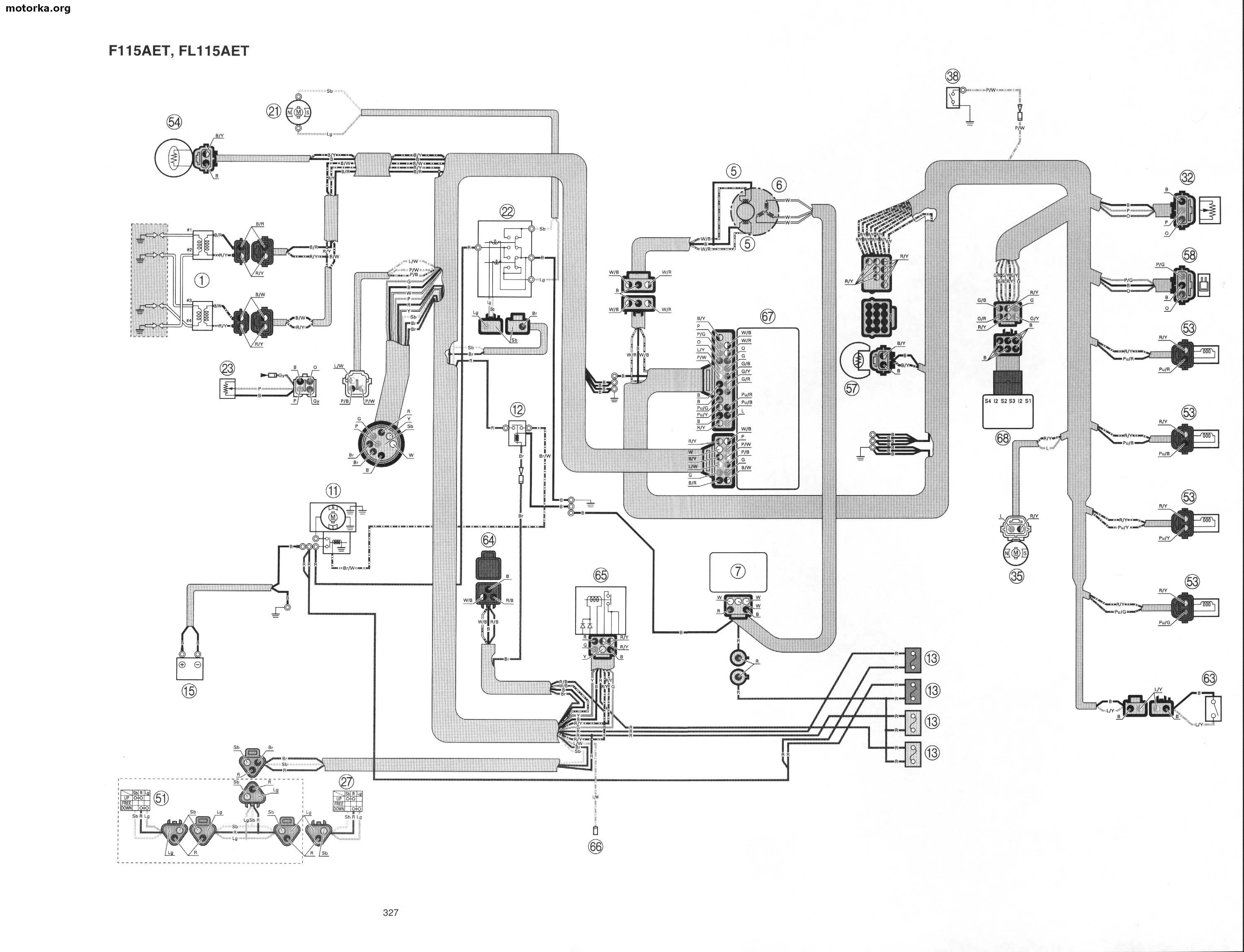 Yamaha 115 Outboard Wiring Diagram