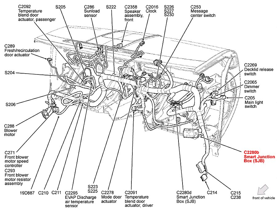 2007 Ford Escape Engine Diagram : Power Door Locks Ford