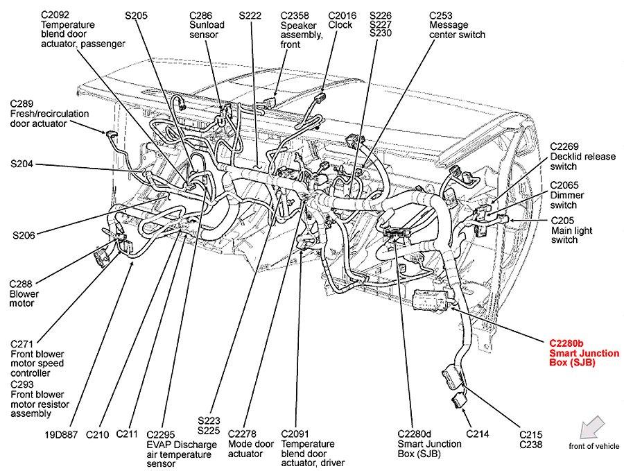 2007 Ford Escape Engine Diagram : Power Door Locks Ford