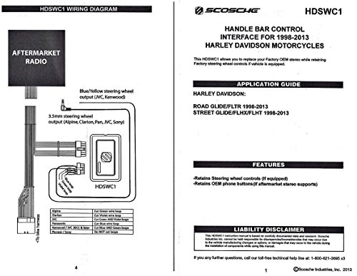 scosche wiring harness harley  john deere light wiring
