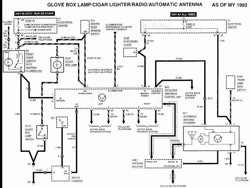 [RF_5935] 1993 Mercedes 190E Radio Wiring Diagram Download