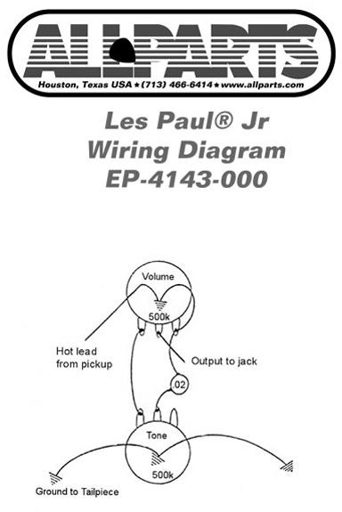 Les Paul Jr.wiring Diagram : Gibson Les Paul Jr Wiring