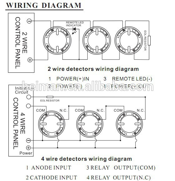 2wire smoke detector wiring diagram  single flasher fuse