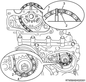 [BY_7334] Engine Timing Chain Diagram Schematic Wiring