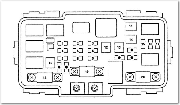 Rsx Fuse Box Diagram : Acura Rsx 2000 Under Dash Fuse Box