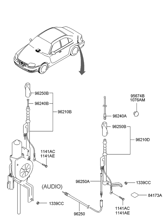 Car Manuals & Literature 2004 HYUNDAI ACCENT Electrical