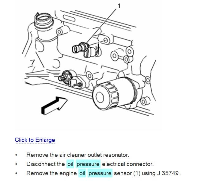 [WY_6093] Chevy Oil Pressure Sending Unit On Oil Sending