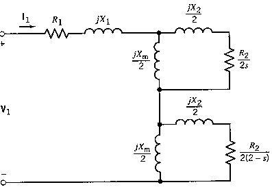 Single Phase Induction Motor Equivalent Circuit Diagram