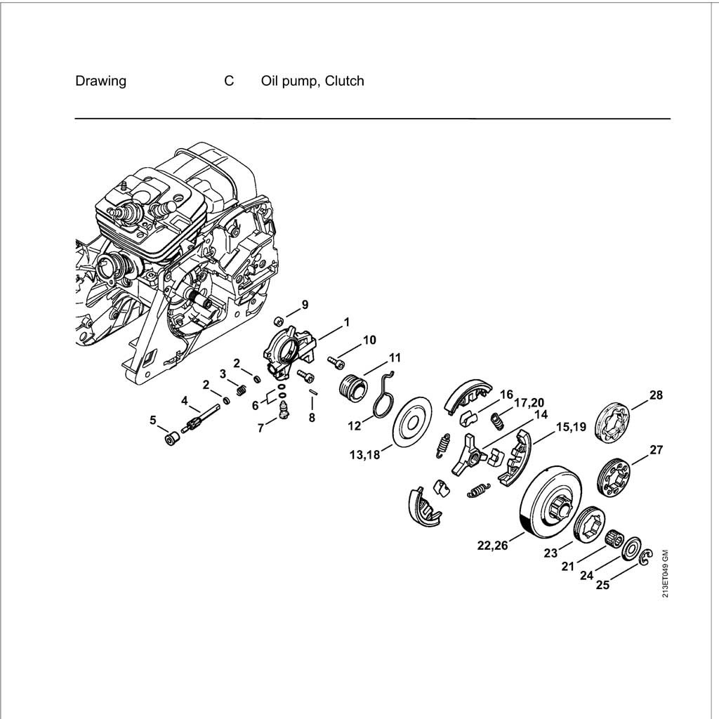 Dw Stihl 029 Parts Diagram Stihl Ts400 Parts List