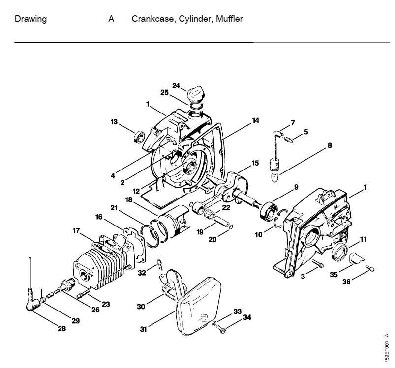 [LZ_9417] 036 Stihl Chainsaw Parts Diagram Images Download