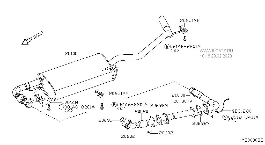 [MO_3351] Nissan Pathfinder Exhaust Diagram Free Diagram