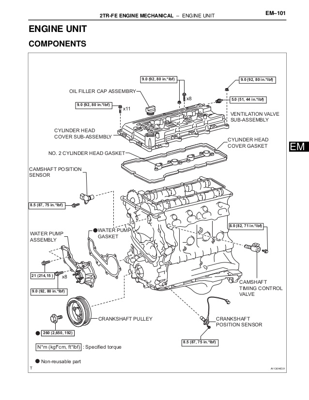 Toyota 2 7 Engine Diagram / Engine Bay Guide For The 2tre
