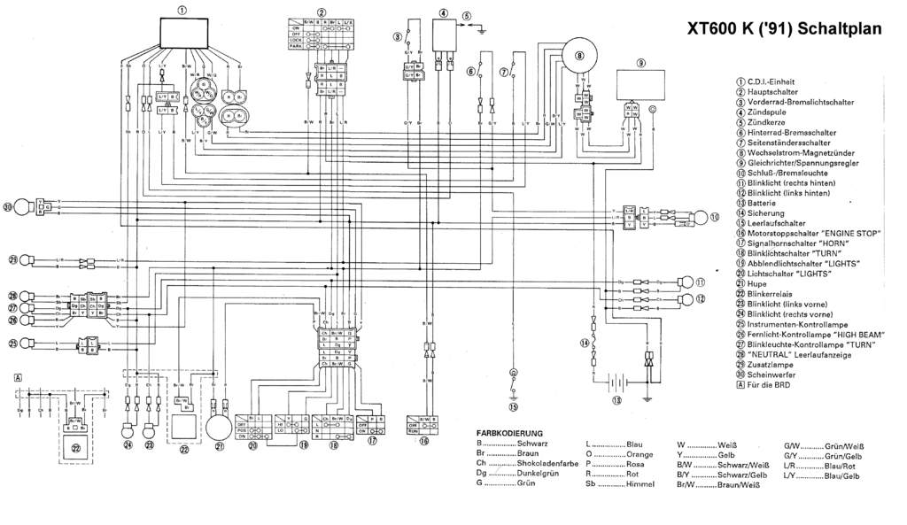 1984 Yamaha Xt 600 Wiring Diagram