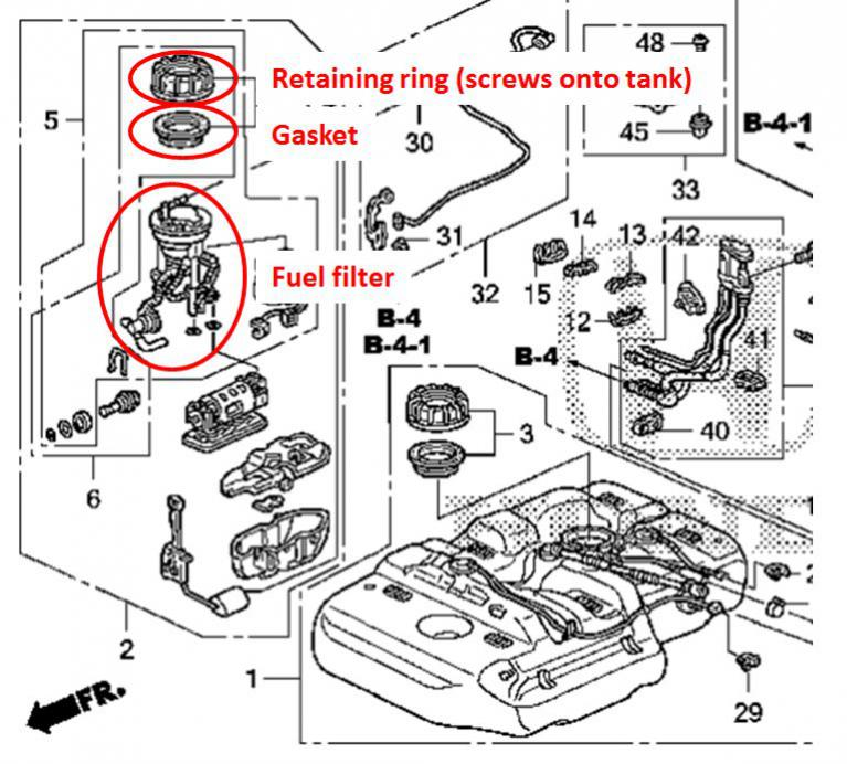 2004 Honda Wiring Diagram Fuel : 2004 Honda Cr V Engine