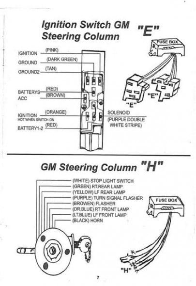 street rod steering column wiring gm wiring diagram for
