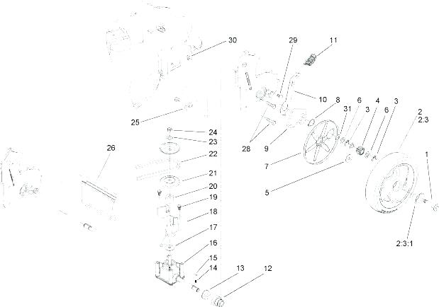 [OG_0407] Transmission Belt Diagram Also Toro Recycler