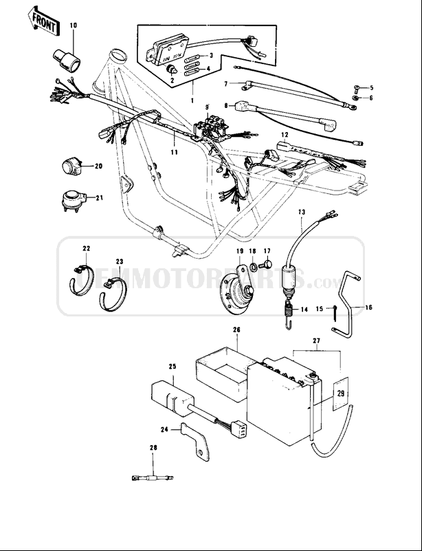 [YL_7939] Motorcycle Wiring Diagrams Also Kawasaki Kz1000