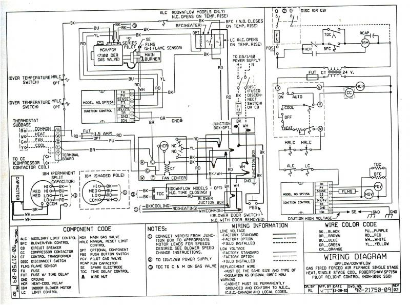 [NE_7421] Goodman Motherboard Wiring Color Code Free Diagram