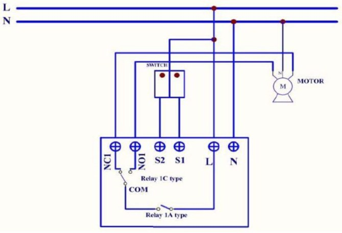 nt4918 automation control motor wiring configuration