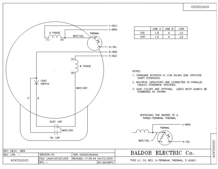 Baldor 5 Hp Motor Capacitor Wiring Diagram