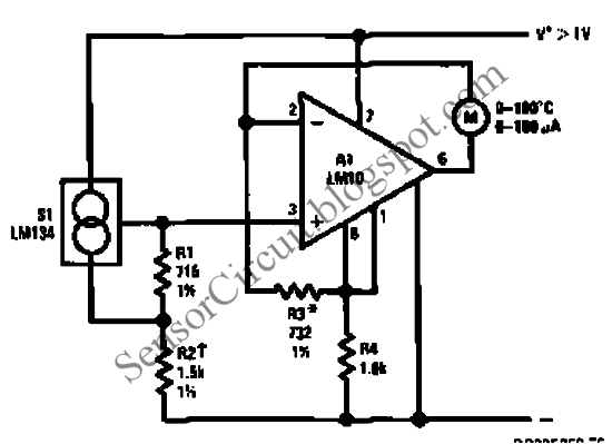 [KN_1865] Temperature Sensor Circuit Design Wiring Diagram