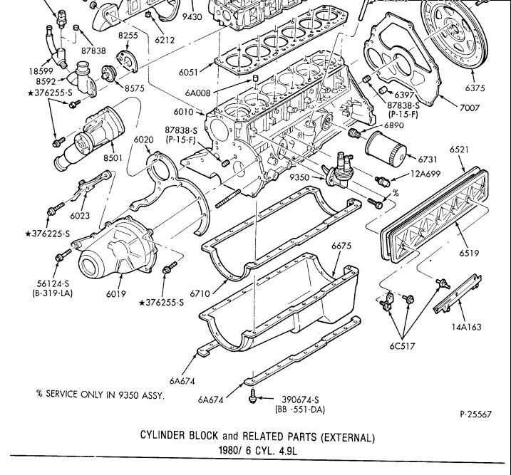 Ford Straight 6 Engine Diagram : Ford Inline 6 Cylinder