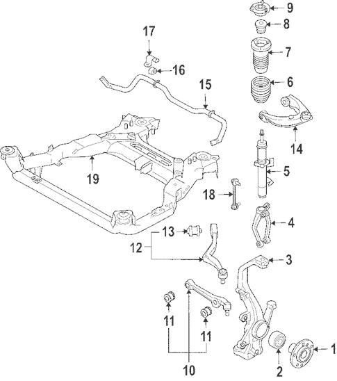 [TF_1151] 2007 Ford Fusion Suspension Free Diagram