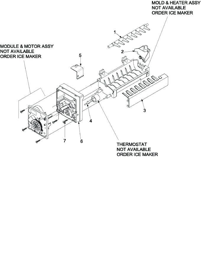 [DF_0927] Refrigerator Parts Sears Kenmore Refrigerator
