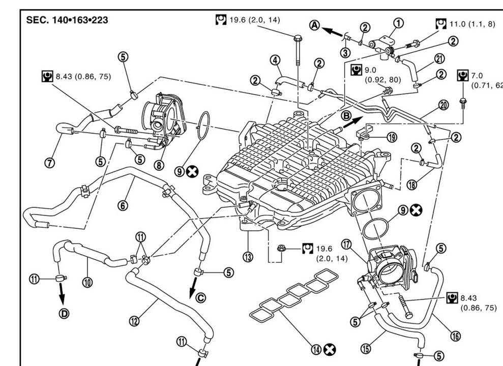 [TZ_9546] Infiniti Heater Hose Diagram Schematic Wiring