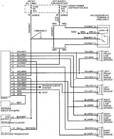 dodge dakota stereo wiring diagram 7 3 idi glow plug relay