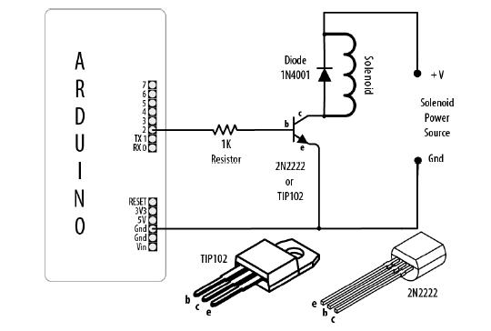 [KL_9997] Arduino Solenoid Valve Driver Circuit Wiring Diagram