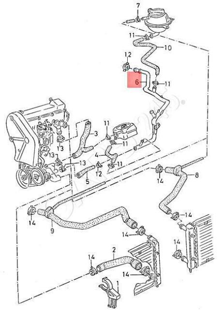 [VY_2107] Volkswagen Gli Coolant Pipe Volkswagen Circuit