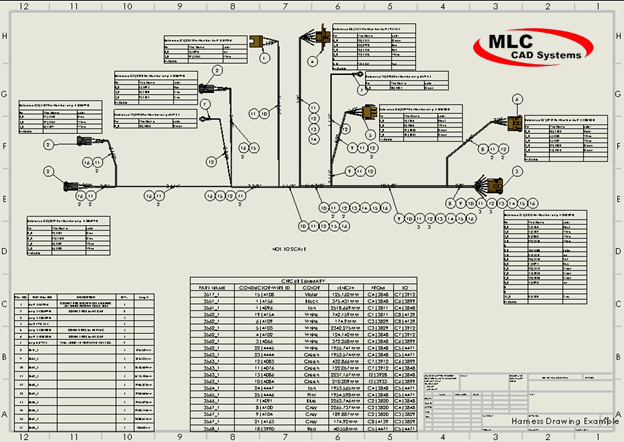 [BD_1526] Aircraft Wiring Harness Drawing Schematic Wiring