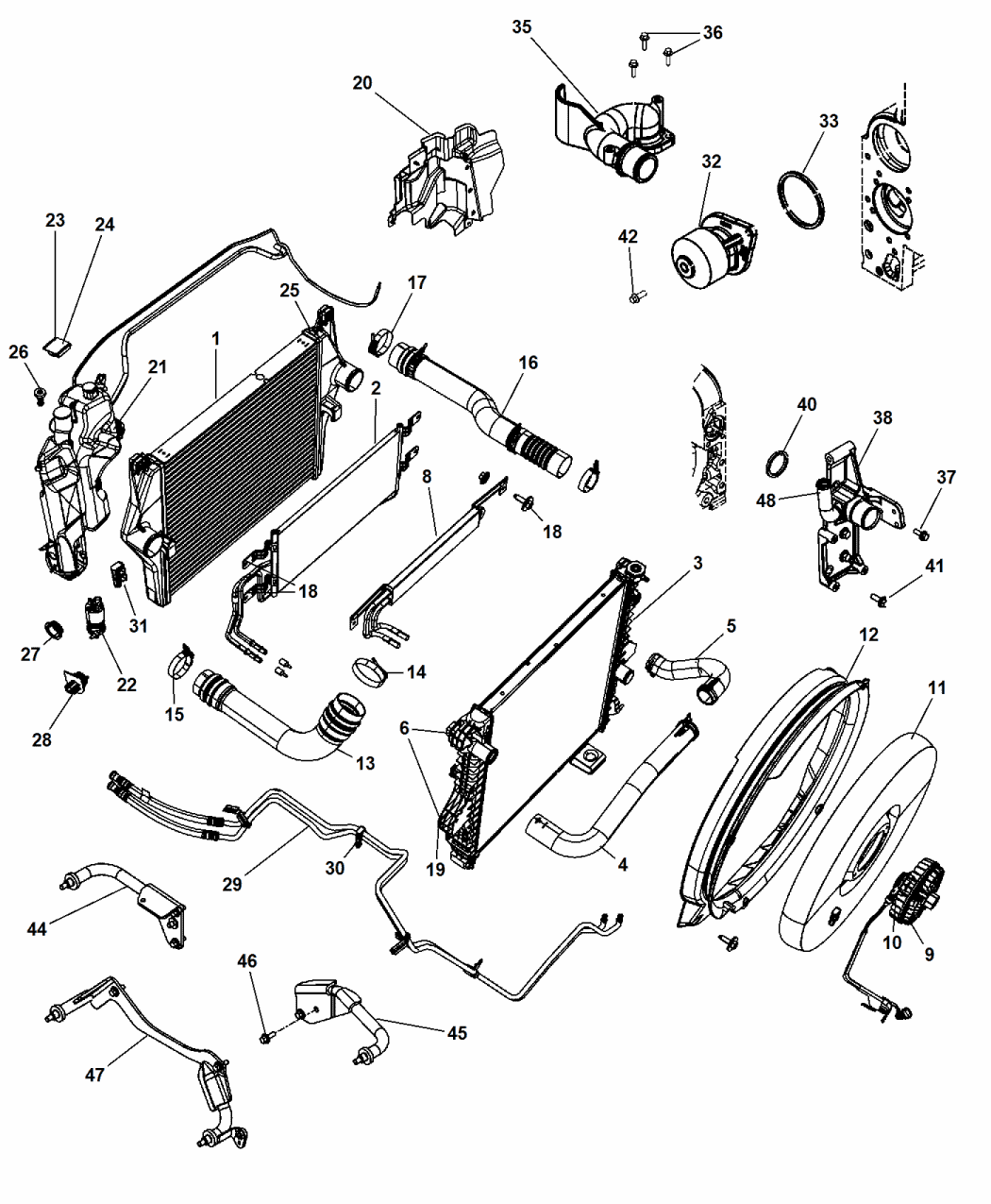 [DD_2468] 2000 Dodge Grand Caravan Cooling System Diagram