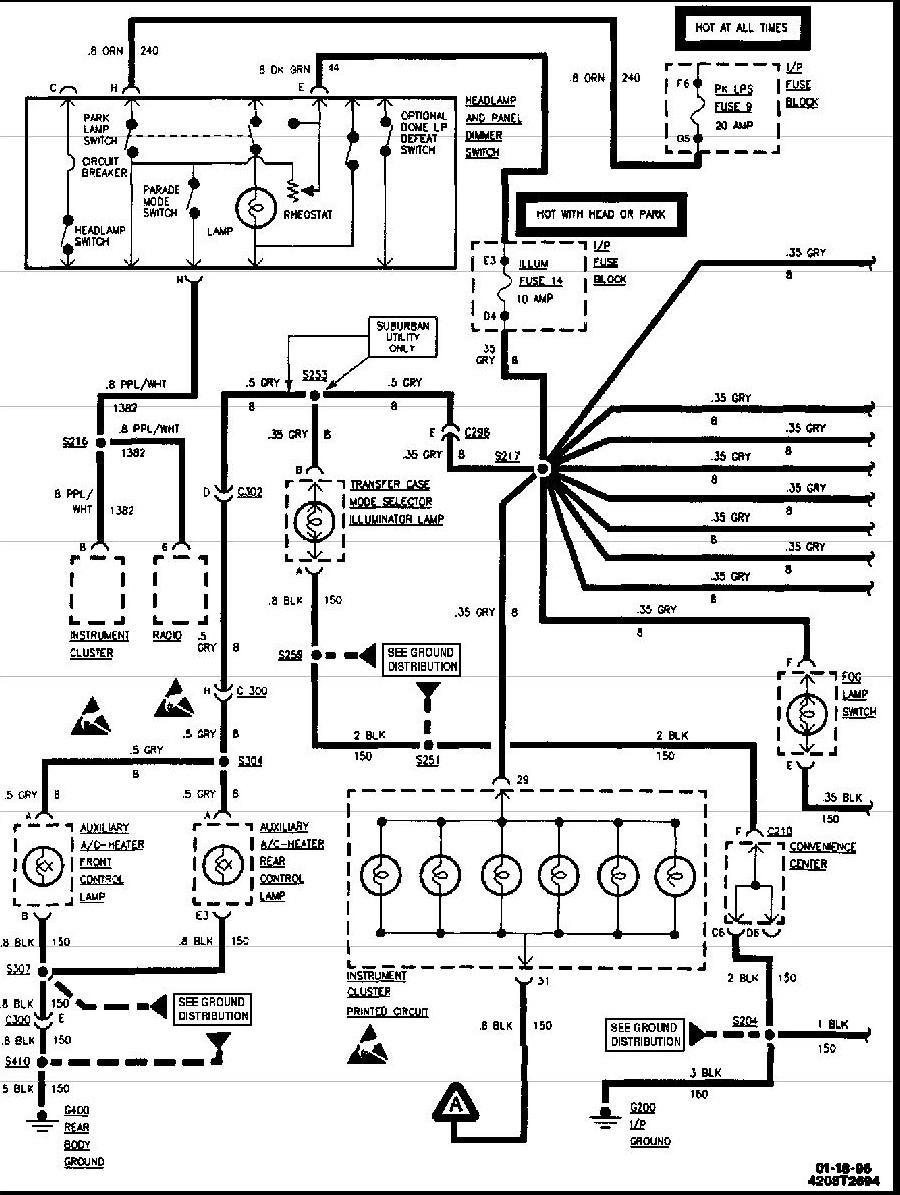 1994 Chevy Silverado Radio Wiring Diagram Database