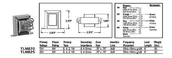 70V Volume Control Wiring Diagram / Wiring Diagram And