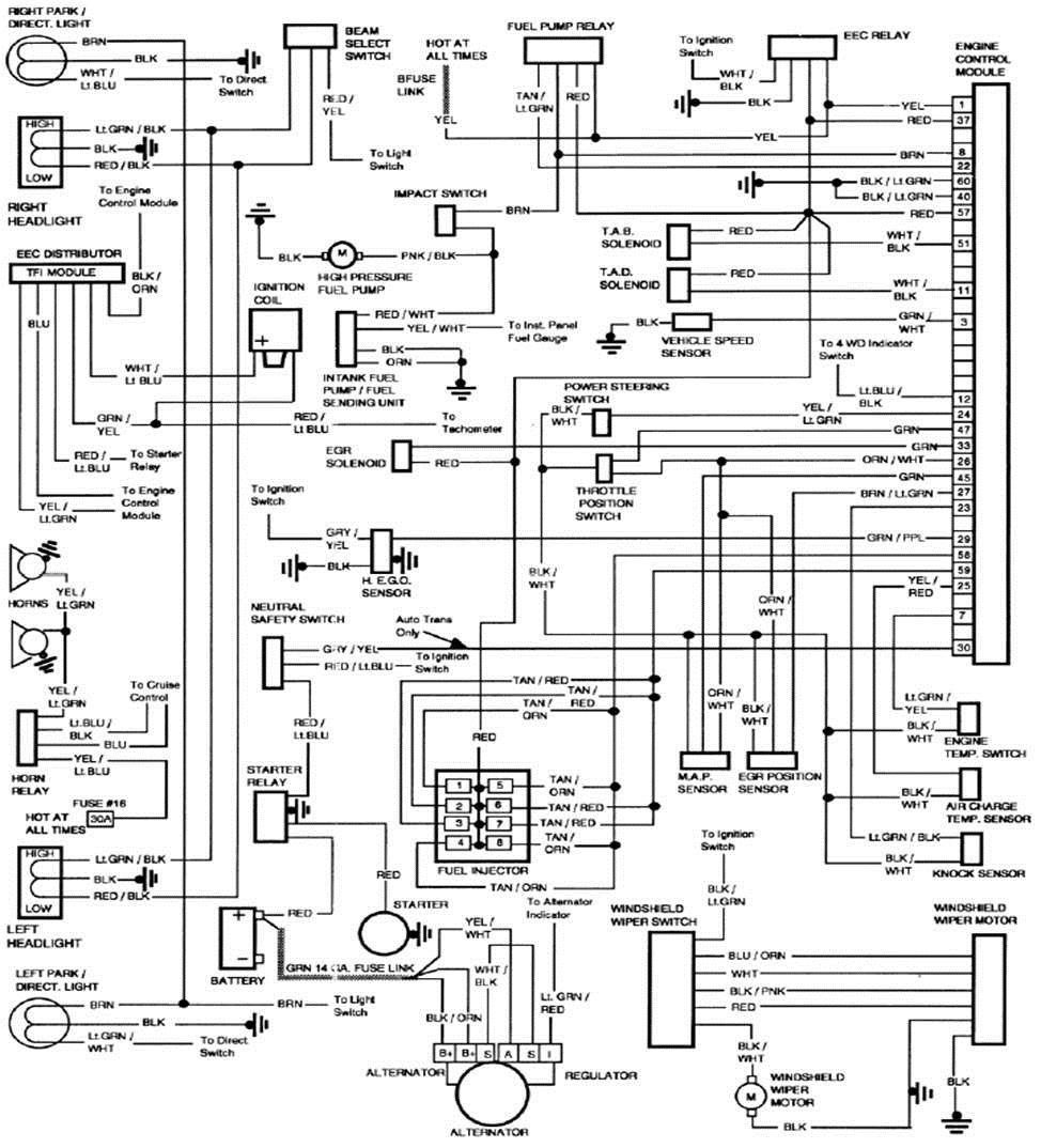 1986 Ford F350 Wiring Diagram : 1986 Ford F350 Fuse Box