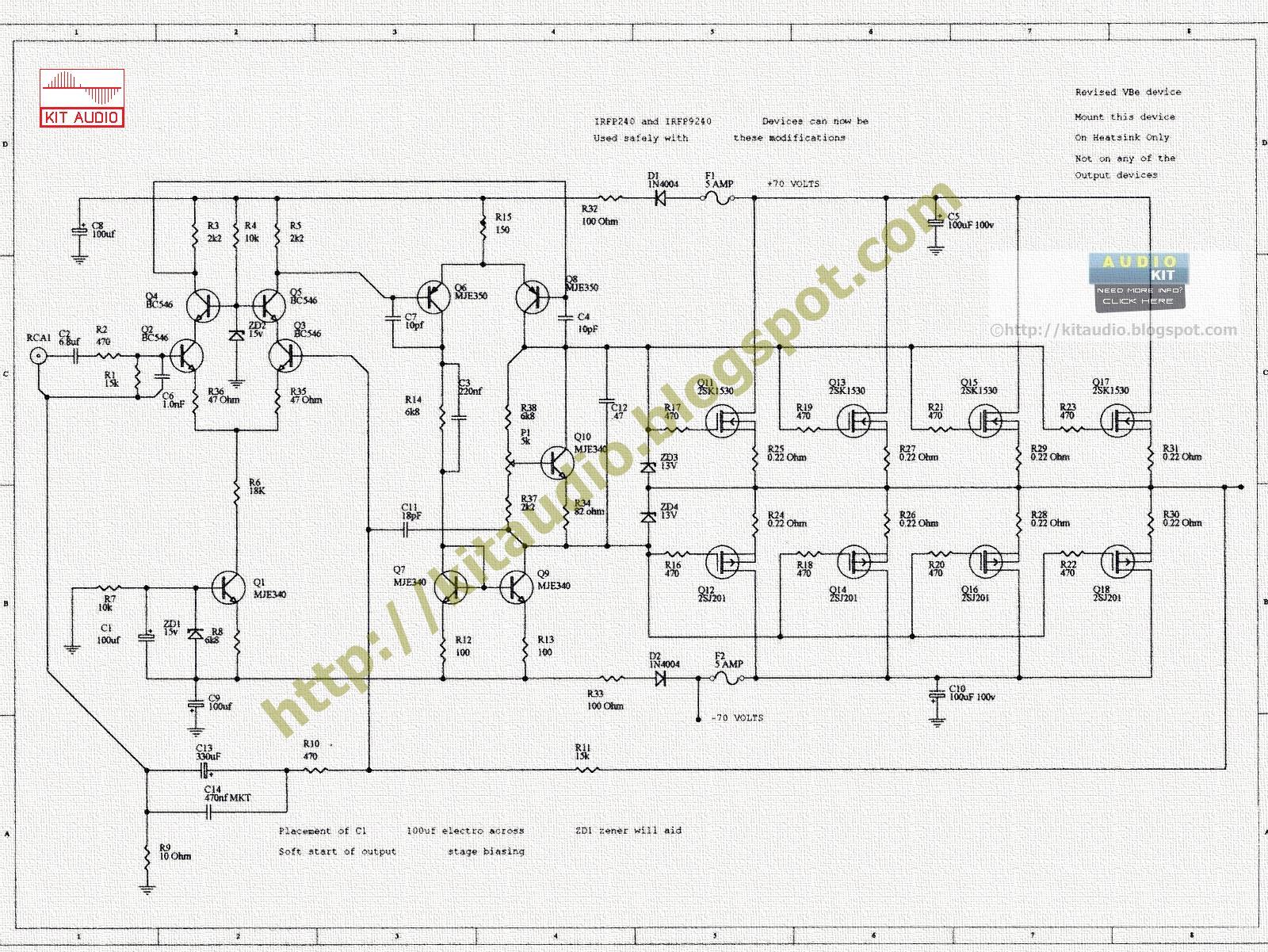 [BW_4256] 240W Mosfet Amplifier Wiring Diagram