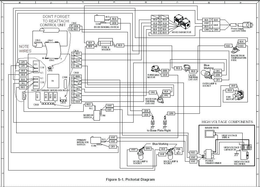 Wolf Microwave Wiring Diagram / Panasonic Microwave Wiring
