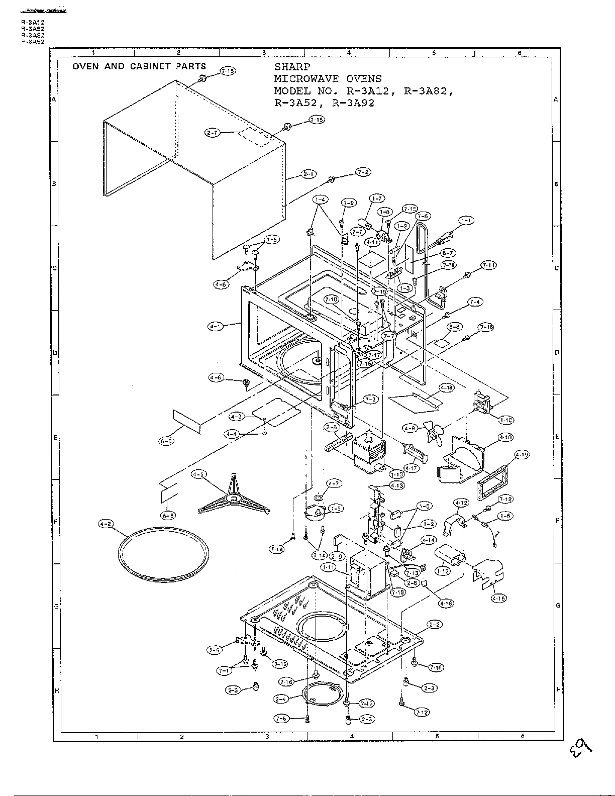 [WN_8472] Wiring Diagram Diagram And Parts List For Sharp