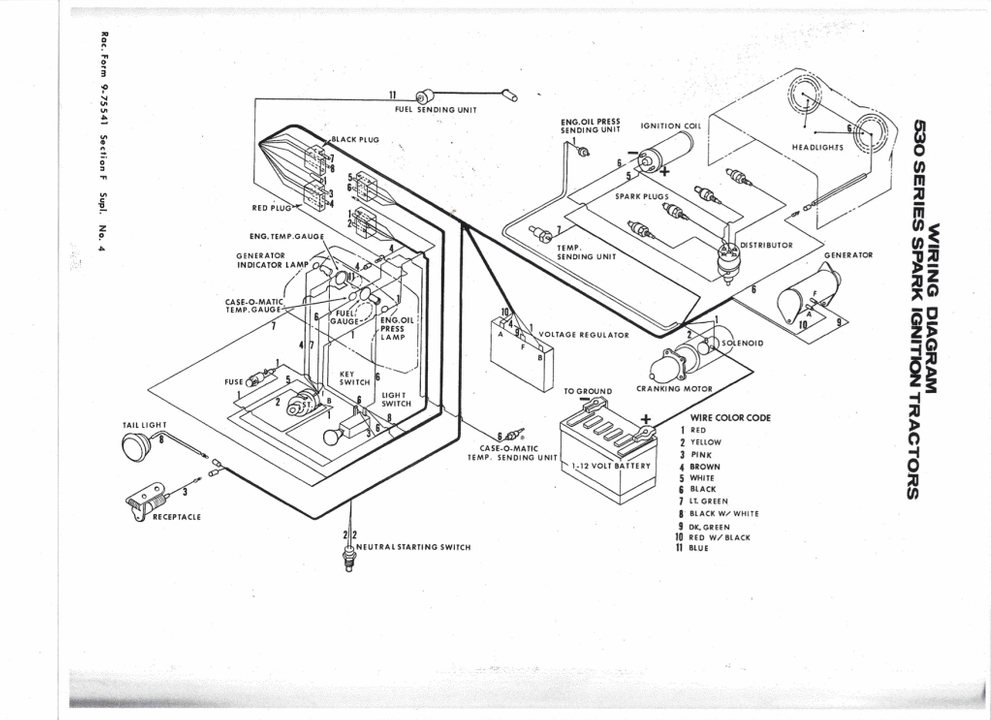 [RE_5516] Case 1840 Skid Steer Hydraulic System Diagram On