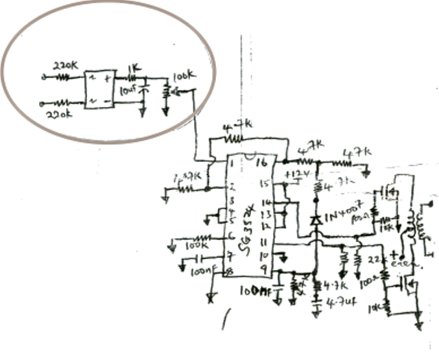 [SL_1308] Schematic Of Smps Inverter With Ka7500 Or Tl 494