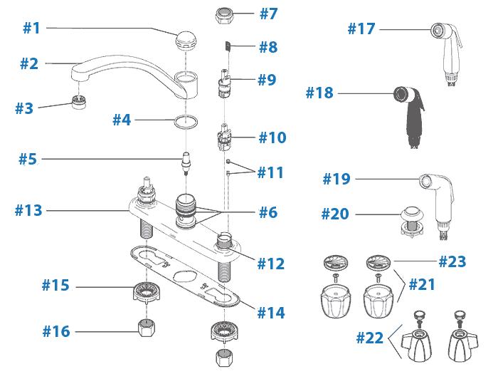 delta faucet repair parts diagram delta