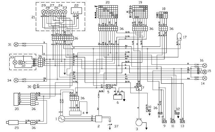 [VF_5314] Aprilia Falco Wiring Diagram Schematic Wiring