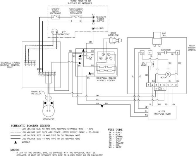 oil furnace burner wiring  rtd connection diagram 2wire vs